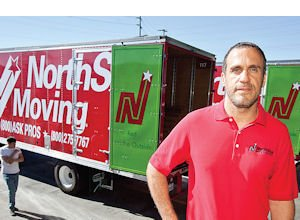 Have Box Will Travel: Ram Katalan, co-owner of NorthStar Moving, at company's Chatsworth headquarters.