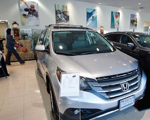 Model Showroom: New vehicles at Galpin Honda in Mission Hills.
