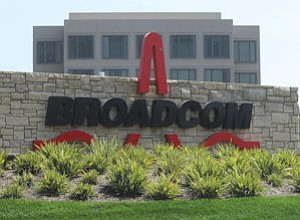 Broadcom: No. 1 with about 2,400 workers here