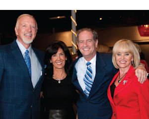 Literacy Project Foundation lunch bunch: Author and event co-sponsor Mark Victor Hansen, with foundation President Sue Tucker and board members Doug Freeman and JoAnn Albers