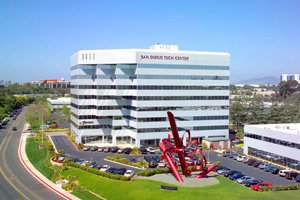 Photo courtesy of Jones Lang LaSalle Beacon Capital Partners purchased San Diego Tech Center in Sorrento Mesa for $152.5 million and is planning another $3.5 million in renovations in the coming year. The company has received city approvals for a planned new 12-story office tower at the campus.
