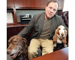 Office Workers: Animal Behavior founder Steven Applebaum with two friends.