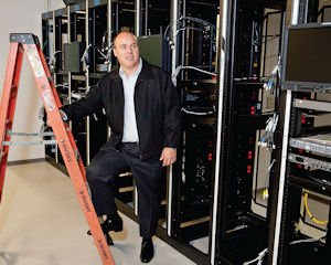 Storage: Visual Data founder John Trautman with new computer equipment.