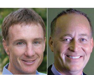 "Smith (left): partner in venture firm.  Lund: Toba's backing makes it time to ""hit the bit"""