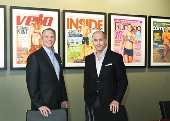 Competitor Group's CEO and CFO Steve Gintowt, left, and CEO Scott Dickey have retrained a stake in the company which was recently purchased by Calera Capital. Competitor has seen tremendous growth since its launch in 2007.