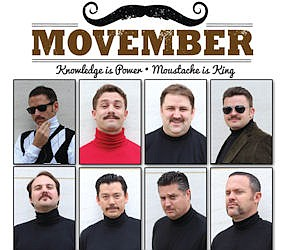 Mustache men: Hanley Investment Group Real Estate Advisors' workers grew mustaches to help raise $13,000 for prostate cancer awareness