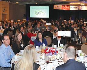 Full house: about 800 attended the event at the Hyatt Regency Irvine