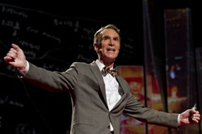 Bill Nye, the Science Guy, speaking at TED 2012 in Long Beach. Photo from Ted.com.