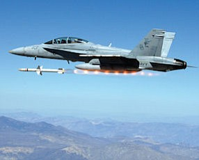 Target Locked: Fighter jet fires Advanced Anti-Radiation Guided Missile.