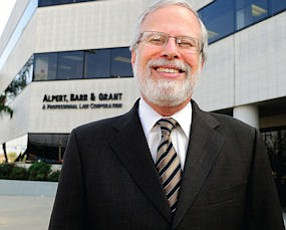 Counsel: Gary Barr outside his Encino practice, which represents lenders.