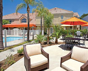 Lounging: The renovation at Staybridge Suites included the pool area.