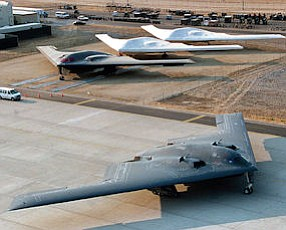 Stealth: The B-2 bomber, on a runway, is slated for modernization in Palmdale.