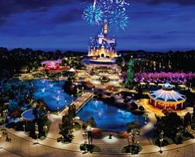 Disney: Rendering of Shanghai Disneyland, set to open in 2015.