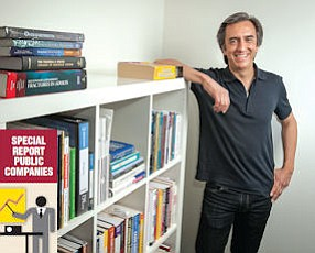 Textbook Case: Peter Derycz, founder and chief executive of Research Solutions, at his offices in Encino.