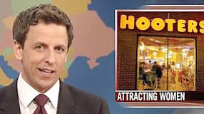 """SNL's Seth:Meyers called Hooters a """"sex dungeon"""""""
