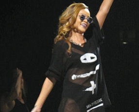 Rihanna: performing at the Honda Center in Anaheim on April 9