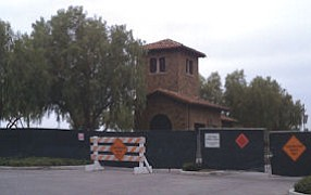 A guardhouse: at the Orchard Hills development in North Irvine, where contractors have gotten busier