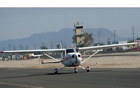 Pacoima: Plane at Whiteman Airport, where control tower will close.