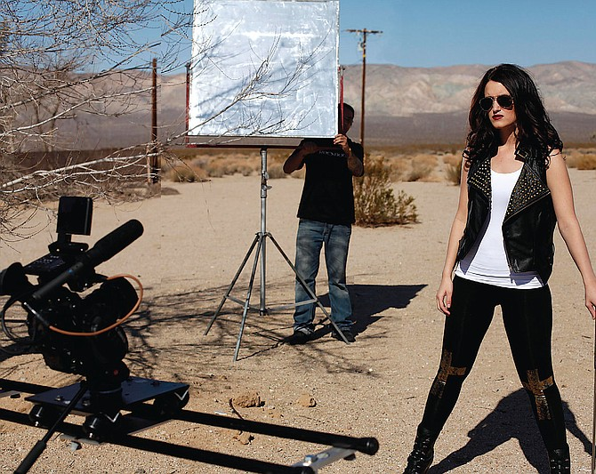 Desert Shot: Vivid Entertainment production on location in the scrub brush.