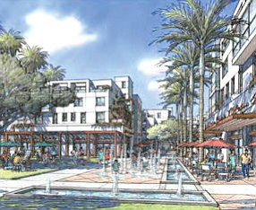 City Hall site rendering: former Newport Beach facility to be redeveloped