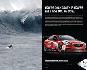 """""""Game Changers"""": ads created by Garage Team Mazda in Costa Mesa"""
