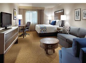 Modern: Room at the Anza in Calabasas, renovated this year.