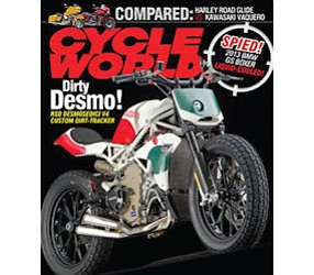 Cycle World: monthly headlines Bonnier's motorcycle portfolio with circulation of 235,000