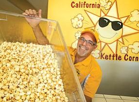 Kernel King: Richard Buchalter at his California Kettle Corn in Newbury Park.