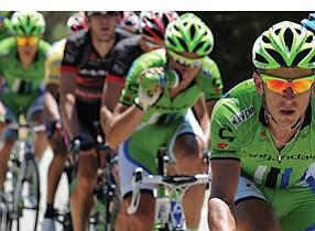 Santa Clarita: Racers bear down during the Amgen Tour of California.