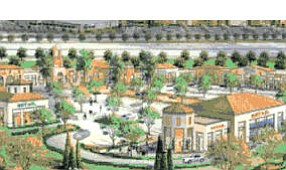 Rendering: proposed 100,000-square-foot addition to Los Olivos shopping center comes as nearby apartment complex approaches full build-out of 1,750 units