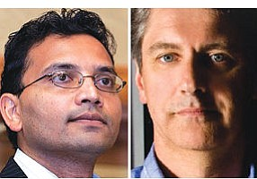 "Shah (left): VCs entering ""super-angel territory.""  Frost: trend could leave gaps on later-stage funding"