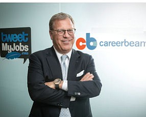 On the Job: Robin Richards, chief executive of CareerArc Group LLC, as his offices in Burbank's Media District.