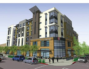 Green Light: Rendering of Hilton Garden Inn, which the Burbank Council OK'd.