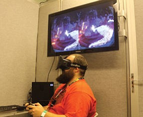 Virtual reality: Oculus headset transports wearer to another world