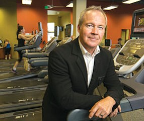 Fit: Gene LaMott, chief of Total Woman Gym & Day Spa, at Studio City outlet.