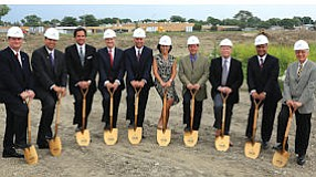 Groundbreaking: dirt turns at site of new facility