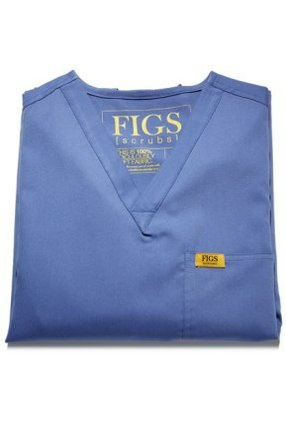 The women's v-neck sells for $20 on Figs.com.