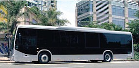 Lancaster: BYD will build electric buses, shown overseas, in the Antelope Valley.