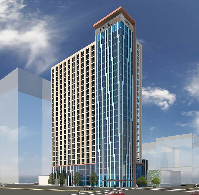 JR Legacy Holdings LLC has proposed a $65 million, 410-room hotel development for a site in downtown San Diego's Columbia neighborhood. The 22-story project on West Ash Street would also include retail/commercial space and a 133-space, two-level subterranean parking structure.
