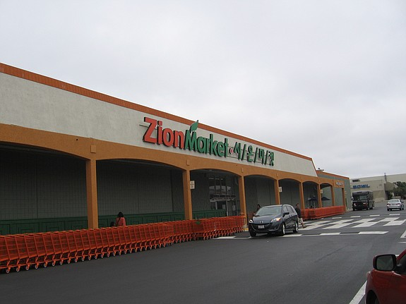 Zion Market opened its first Korean grocery market in San Diego in 1979 and recently relocated from a Mercury Street location to this former Sears Essentials store location on Clairemont Mesa Boulevard. At nearly 100,000 square feet, the Kearny Mesa store is now the largest of five operated throughout Southern California by the company.