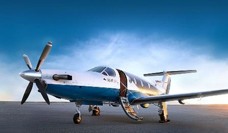 A commuter jet operated by Santa Monica startup Surf Air. Photo courtesy of Surf Air.