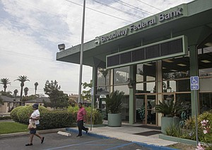 Broadway Federal Bank branch in L.A.'s Mid-City.
