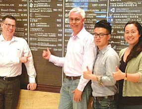 MR ProFun China Co.: Joel Ward, Ron Merriman, Joey Zhang and Maika Lindsay staffing new Shanghai office