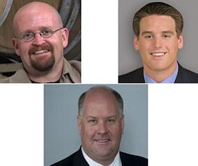 Tomme Arthur, Todd Davis (center); Danny Fitzgerald