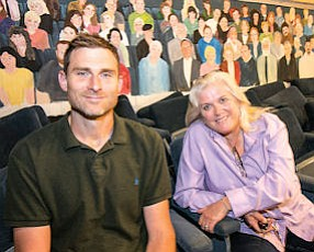 Now Showing: Restaurateur Richard Mandeville with theater owner Linda Fulton.