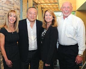 Leaders: Sage Hill School trustees: Andra Ellingson, Paul Kim, Vicki Ueberroth Booth, Mike Bolen