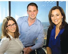 Stradling strategists: Samantha McDermott, right, and her marketing team, Angela Schelden and Scott Feuchter