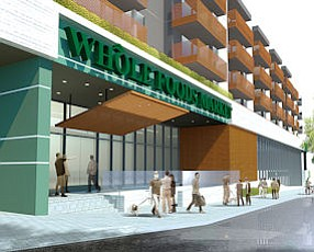 Rendering: The Whole Foods would be on the ground floor below apartments.