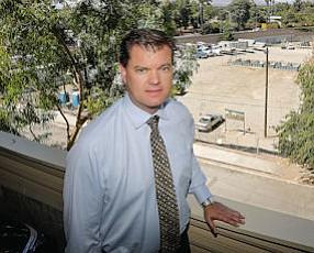 Tenacious: Developer Paul Krueger overlooks site of Il Villaggio Toscano project.