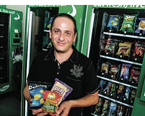 Getting Fresh: Jack Hagopian with his company's Express Bite vending machine.